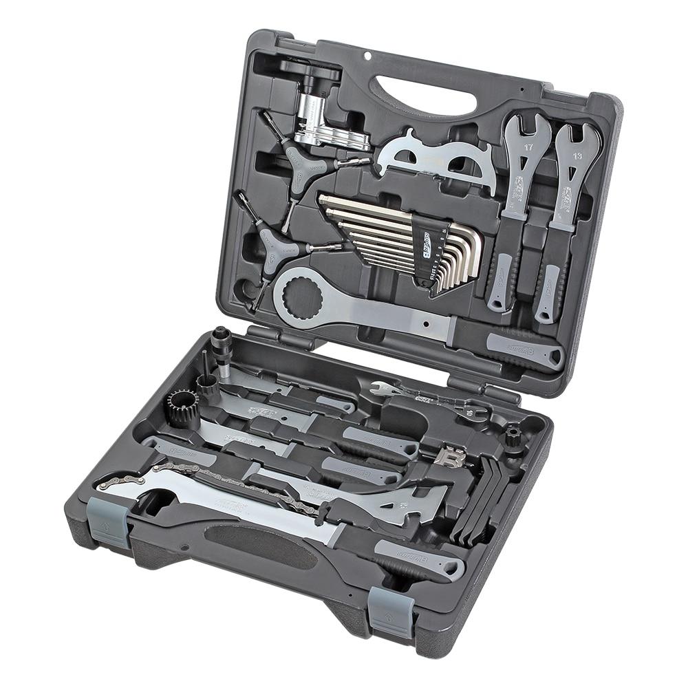 Super B TBA3000 30Pcs Bike tools set professional toolbox Portable tool box Bicycle repair tools