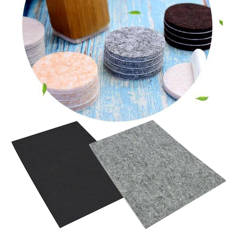 1Pc Wear Resistant For Furniture A4 Size Felt Back Sheets DIY Remove Self Adhesive Non Toxic Odorless Craft Easy Use Thicken