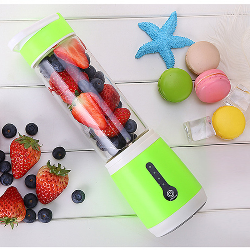 480ml Portable Electric Juicer Cup Bottle USB Charge Juice Blender Fruit Squeezers Reamers Bottle Egg Whisk Fruits Mixer Machine-in Juicers from Home Appliances