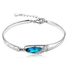 100% Joyería de Plata Esterlina 925 Mar Azul Pulseras y Brazaletes de Calidad Superior!! envío Gratis