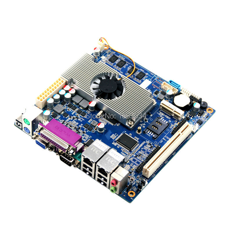 2015 hot!! router atom mainboard mini itx motherboard with fan support 2*RJ45 Lan port цена