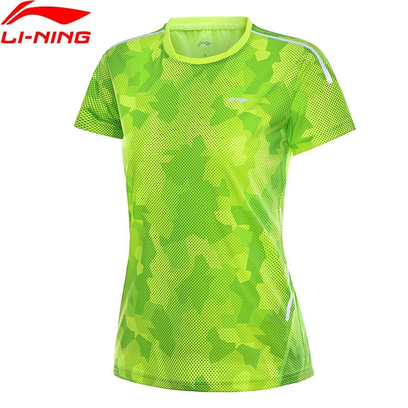 Li-Ning Women Badminton T-Shirt Competition Shirts 100% Polyester Regular Fit LiNing Li Ning Sports Tee Tops AAYN044 WTS1456