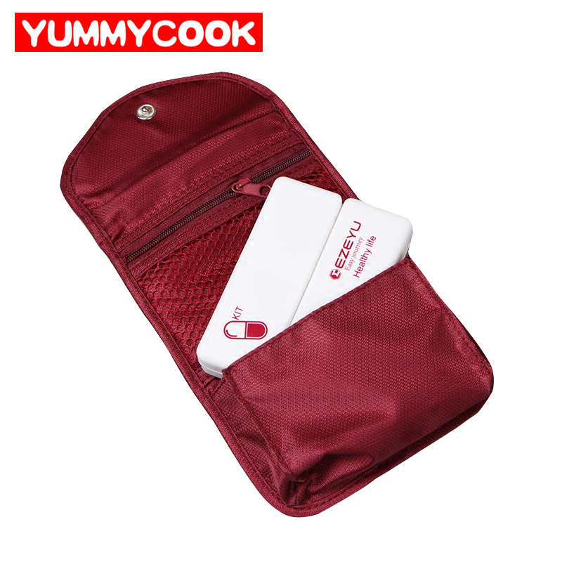 1Set Mini Portable Drug Bag Weekly Pill Case Medicine Storage Bag Travel Outdoor Camping Home Office Organizer Accessorie Stuff
