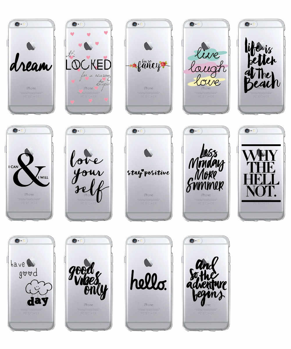 Summer Beach Positive Instagram Quote Soft Clear Phone Case Cover Fundas Coque For iPhone 11 Pro q50