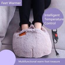 Продвижение Электрический теплый коврик Утеплитель для ног Электрический грелку ноги электрическое отопление обуви теплее SlippersElectric тапочки тепла Pad