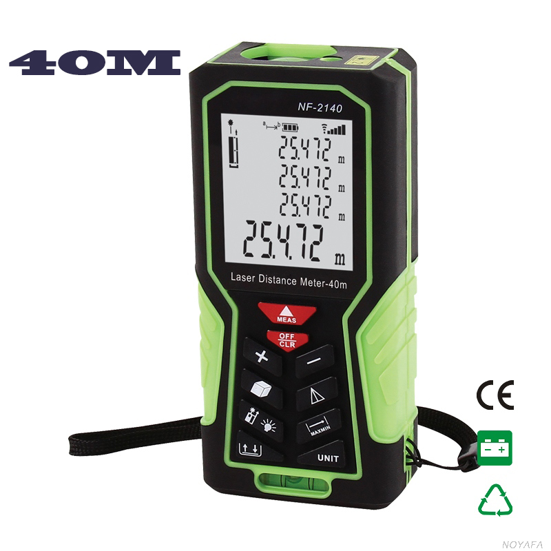 Handheld Laser Distance Meter Digital Laser Range Finder Laser Tape Measure 40M Area/volume/Angle Tester tool Lofting function digital laser distance meter bigger bubble level tool rangefinder range finder tape measure 40m area volume angle tester