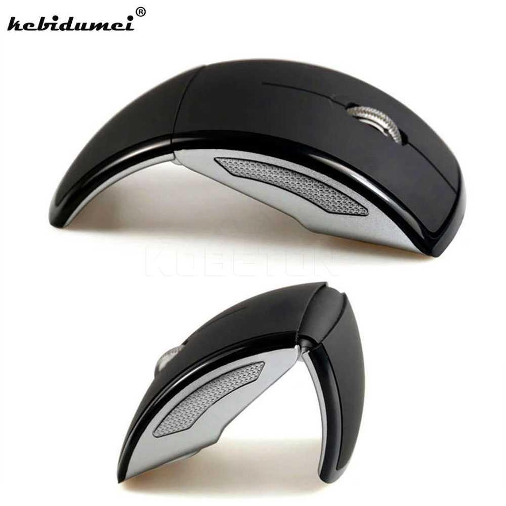 Kebidumei 1 Chiếc 2.4GHz Có Thể Gập Lại Quang Không Dây Chuột Mini USB Nhận Miếng Lót PC Laptop Máy Tính Xách Tay