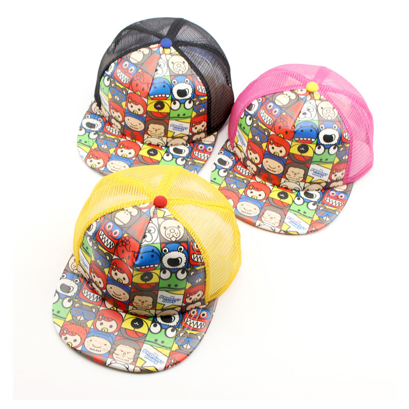 2017 New Children Hip Hop Baseball Cap Summer Cartoon pacifier kids Sun Hat Boys Girls mesh snapback Caps hats for 2-8 years 2016 korean superman batman children hip hop baseball cap summer sun hat breathable boys girls snapback caps