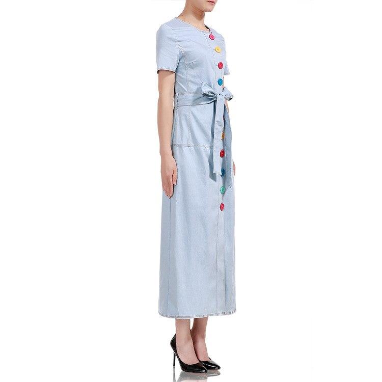 2018 Лидер продаж хлопок Вадим платье ZANZEA 2019 женские платья, новый цвет модные однобортный, пояс, зауженные джинсы, длинные.