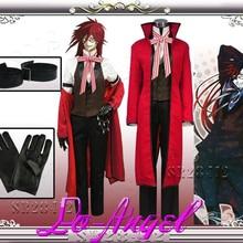 Black Butler 2 Grell Sutcliff Kuroshitsuji Red Death Косплей Костюм для вечеринки на Хэллоуин Индивидуальный размер