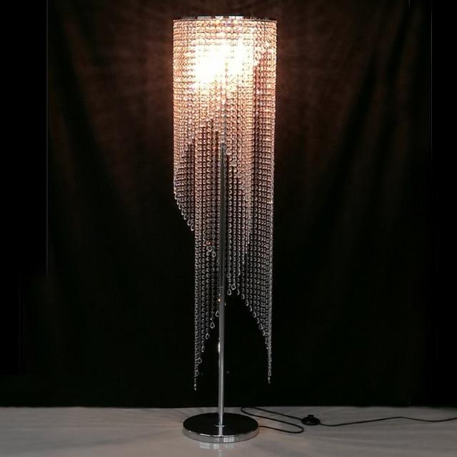 Aliexpress  Buy led Fashion modern crystal Floor lamp living - living room light stand