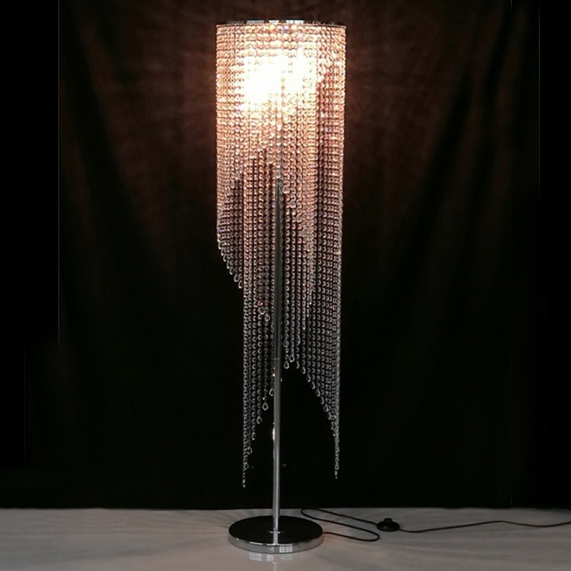 Led Fashion Modern Crystal Floor Lamp Living Room Lights Bedroom Lamps French Stand