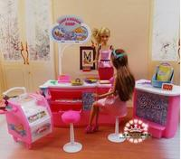Free Shipping Pink Candy Ice Cream Shop Supermarket 1 6 Doll Accessories Doll Furniture For Barbie