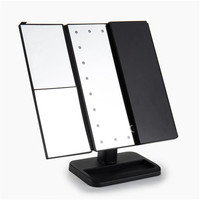Folded Touch Screen Make Up Mirror Cosmetic Desktop Portable Compact LED lights Lighted Travel Make up kit