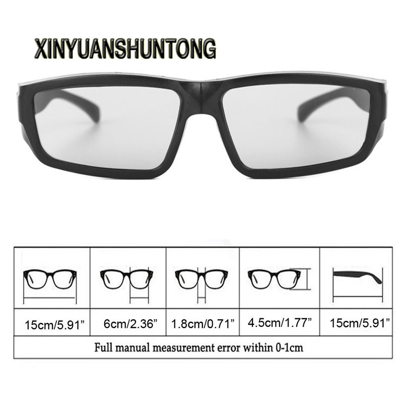 XINYUANSHUNTONG 3D Glasses Black H4  Circular Polarized Passive 3D Stereo Glasses For TV Real D 3D Cinemas