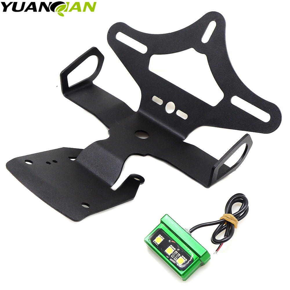 Motorcycle Fender Eliminator Registration Number License Plate Holder Tail Tidy Bracket Fit For Kawasaki Z900 Z 900 2017 2018 in Covers Ornamental Mouldings from Automobiles Motorcycles