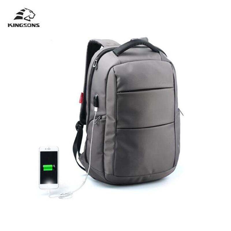 Kingsons External Charging USB Function Laptop Backpack Anti-theft Man Business Dayback Women Travel Bag 15.6 inch kingsons external charging usb function school backpack anti theft boy s girl s dayback women travel bag 15 6 inch 2017 new