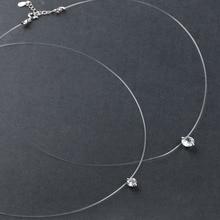 1 шт., новинка, невидимая прозрачная леска, циркониевое ожерелье с подвеской, модное женское ювелирное изделие, красивый подарок
