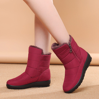 Women Down Ankle Snow Boots Female Puff Winter Boots Zipper Waterproof Ladies Shoes Plush Insole Botas