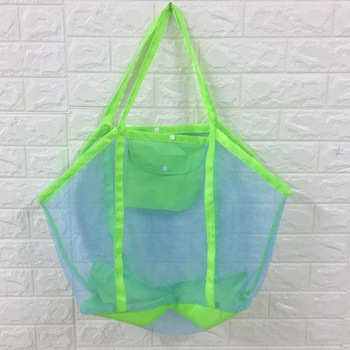 Foldable Portable Beach Bag Kids Children Mesh Storage Bag Beach Toy Baskets Towel Bag Baby Toy Storage Sundries Storage Bags 2