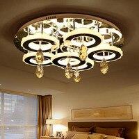 Modern led ceiling lamp bubble column crystal lamp rectangular creative living room lights atmospheric bedroom lights 3 color
