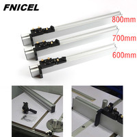 600mm/700mm/800mm Miter Gauge Aluminium Fence with Micro Adjustable Stop Woodworking Tools