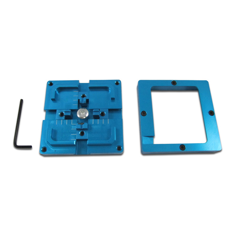 New Blue BGA Reballing Jig 80X80mm Stencil Holder for BGA Reballing Station bga reballing station jig 184pcs 80x80mm templates kit for laptop desktop xbox