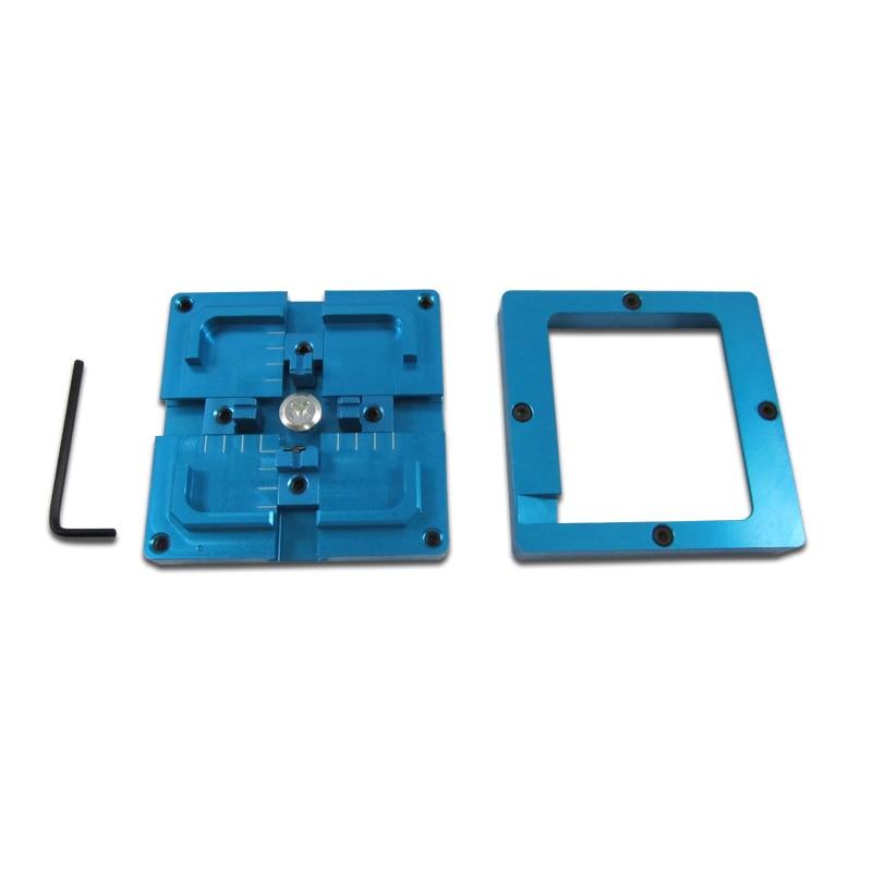New Blue BGA Reballing Jig 80X80mm Stencil Holder for BGA Reballing Station bga jig with screws 4pcs