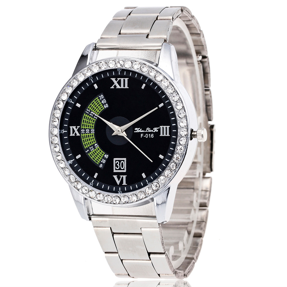 Date Men's Watch Luxury Military Stainless Steel Sport Quartz Roman numberals Wrist Hour Dial Watch Mens relogio masculino