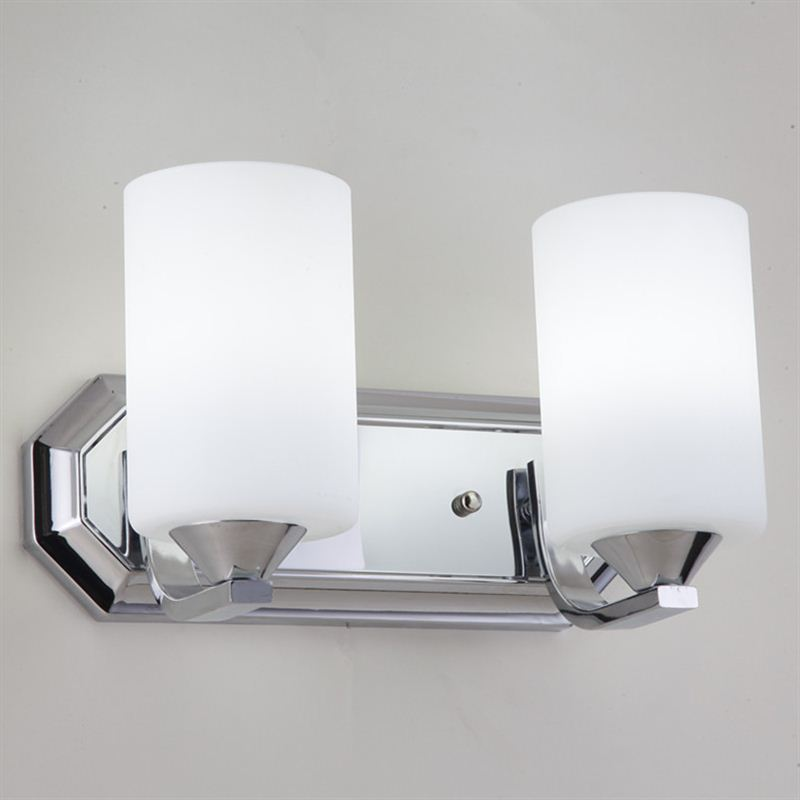 LED Cold / Warm / Plug-in Type Frosted Glass Single/Double Head Wall Sconce, Chrome Finish Wall Lamp for Bedroom Indoor Lighting female head teachers administrative challenges in schools in kenya