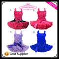 2015 New Hot Sale Children Girl Boutique Pure Color Kids Girl Dancing Pettiskirt Set Chiffon top + skirt Pettiskirts Tutu Set