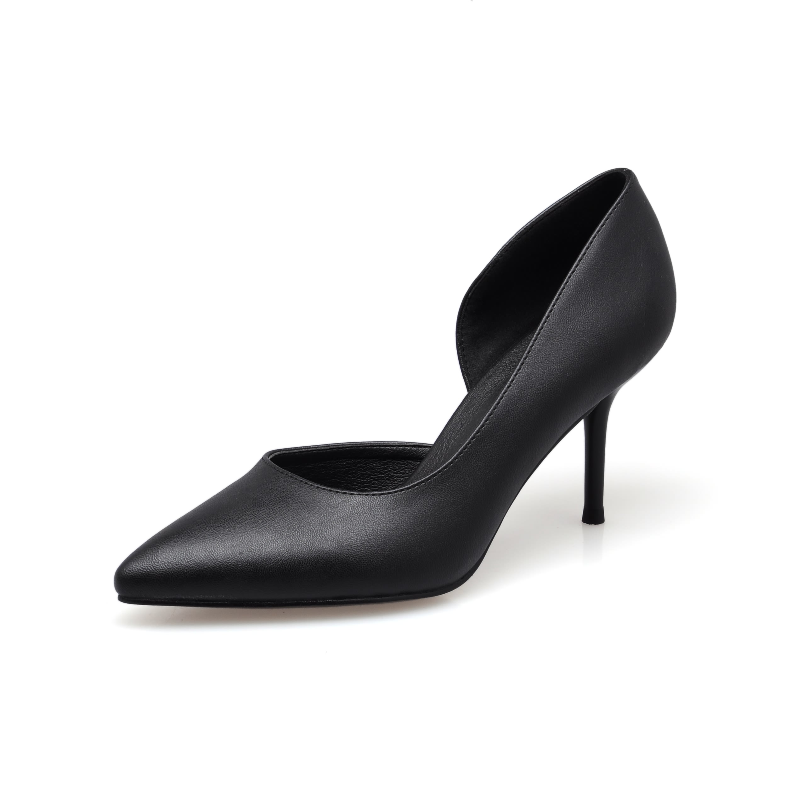 New Spring Summer Red High Heels Good Quality Pointed Toe Women Lady Solid Simple Casual Genuine Leather Pumps Shoes SMYBK-063 new hot spring summer high quality fashion trend simple classic solid pleated flats casual pointed toe women office boat shoes
