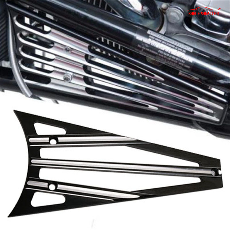 KOLEROADER Aluminum Deep Cut Frame Grill Cover For Harley Touring Electra Street Glide FLHX Road King 1993-2013 Water Tank Cover