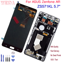 WEIDA For ASUS Zenfone AR ZS571KL V570KL Original LCD Display Touch Screen Assembly With Frame Replacement Parts Black 5.7