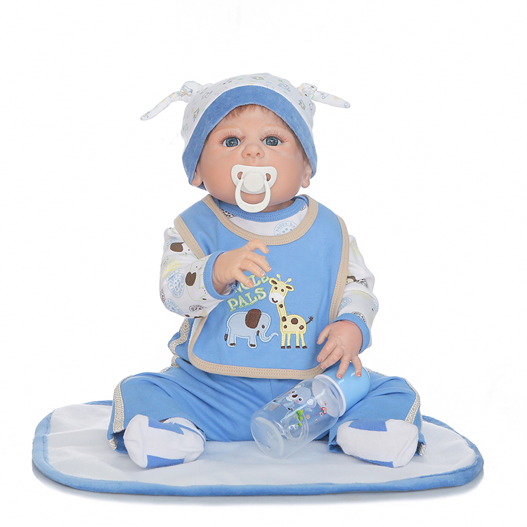 New 55cm Full Silicone Reborn Babies Doll Play House Toys Lifelike Newborn Boy Baby Doll Kids Birthday Gift Bathe Shower Toy full silicone body reborn baby doll toys lifelike 55cm newborn boy babies dolls for kids fashion birthday present bathe toy