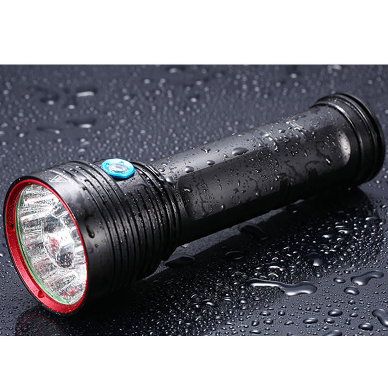 Newest 18000 Lumens Diving Light 14 x CREE XM-L T6 LED Flashlight Torch Waterproof 14*T6 Spotlight For Tactical Camping Lamp diving 4000 lumens cree xm l2 led 3 l2 led t6 flashlight torch waterproof underwear lamp light super white light