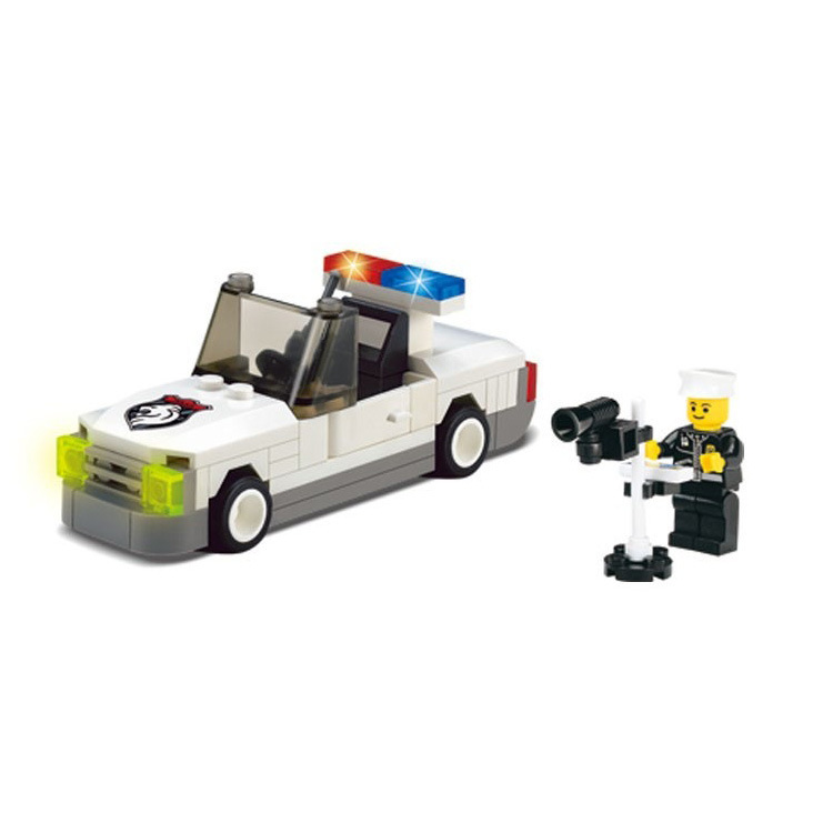 Enlighten Models Building toy Compatible with Lego E125 60pieces Police Blocks Toys Hobbies For Boys Girls Model Building Kits