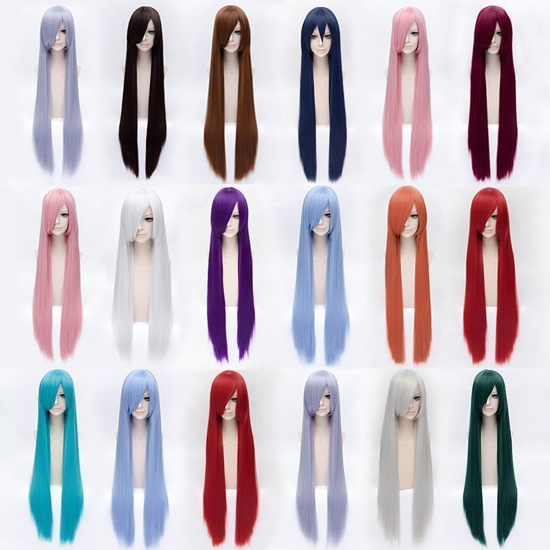 (Alice-Wig 038) Heat Resistant Fiber Hairpiece Synthetic Hair Wig 100cm Anime Cosplay Wig