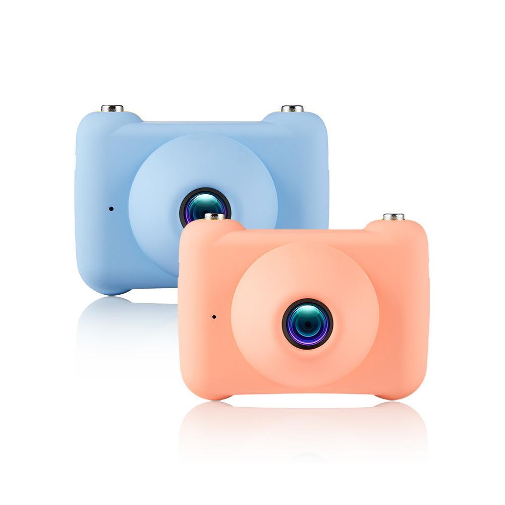 Mini appareil photo numérique petit reflex double objectif caméras jouet pour enfants HD Projection appareil photo numérique enfants cadeau d'anniversaire