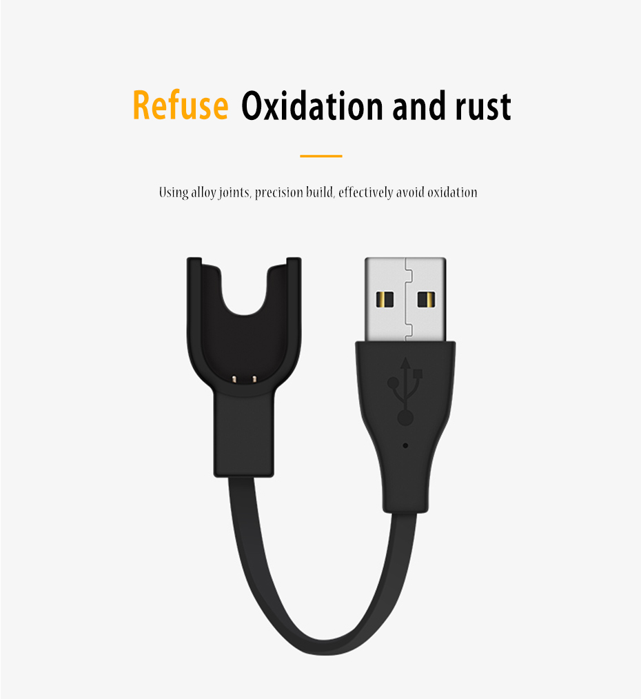 For Xiaomi Band Charge 2 USB Charger For Xiaomi Mi Band 2 Cable Replacement Cord  For Xiaomi Miband 2 Smart Bracelet Accessories 005407_08