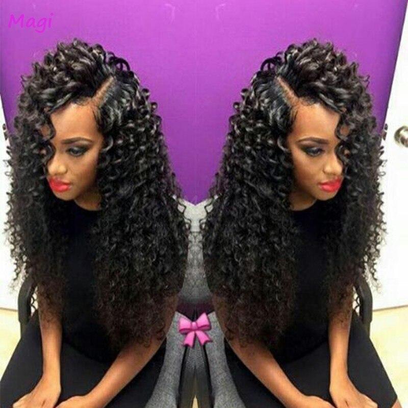 7a Brazilian Bouncy Curl Wig Bleached Knots Lace Front