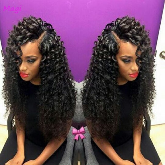 7a Brazilian Bouncy Curl Wig Bleached Knots Lace Front Wigs Glueless