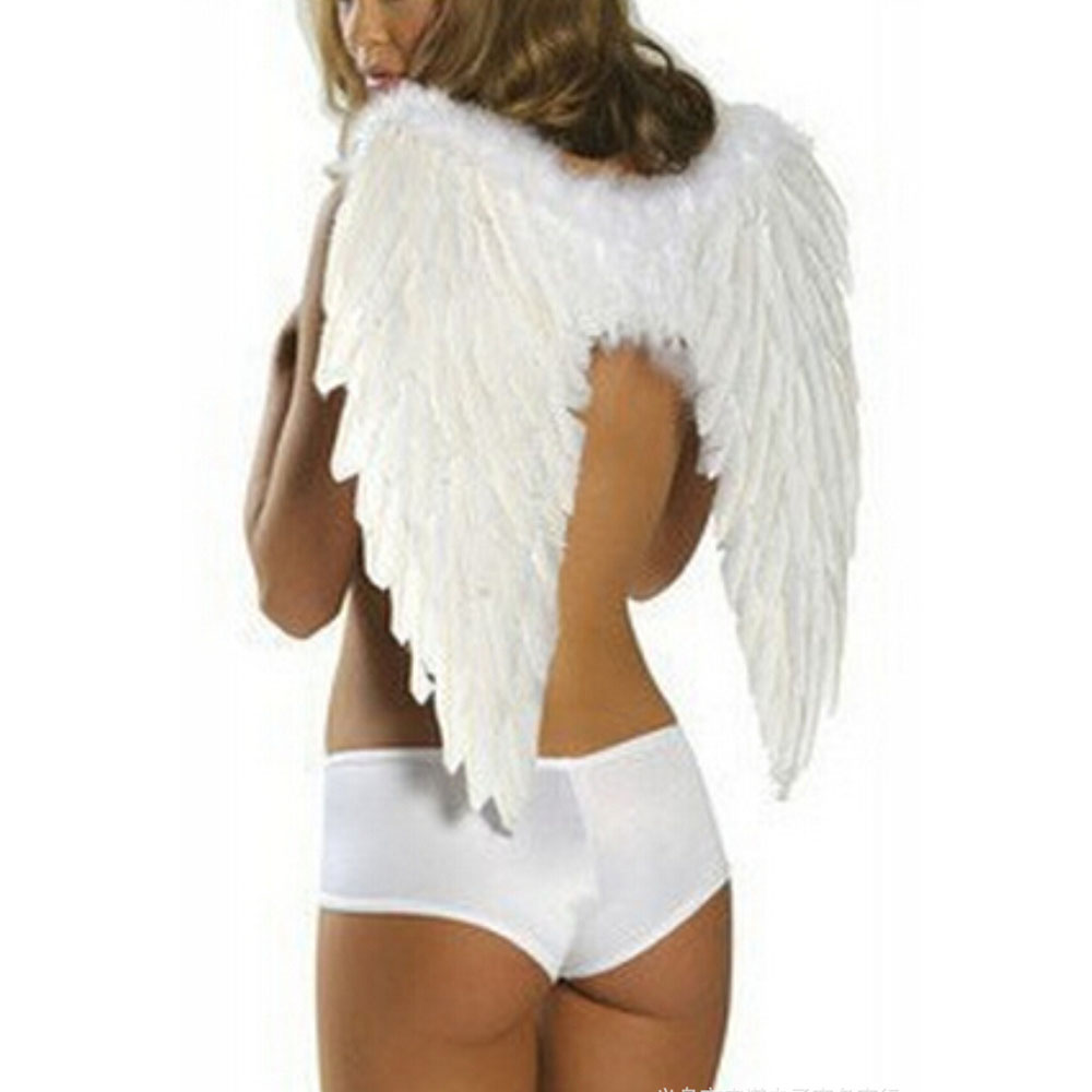 6045cm ladies angel feather wing photo prop stage show halloween costume party kids girl - Halloween Costumes Angel Wings