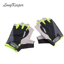 Μόδα Αθλητικά γάντια Γάντια με ημίχρονο δάχτυλα ανδρών γυναικείες γάντι Άσκηση μισό δάχτυλο λούβα γυμναστήριο αρσενικό guantes SXJ10