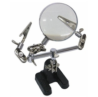 5x Third Hand Magnifier Helping Hand Magnifying Glass With Auxiliary Clip And Soldering Stand