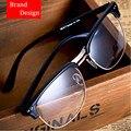 Clássico Itália Projeto Mulheres e Homens Óculos Metade do Quadro Óptica Óculos de Prescrição e Decoração