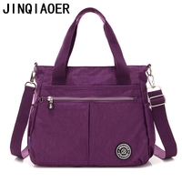 Women S Solid Travel Waterproof Handbag Shoulder Messenger Nylon Bags For Women Ladies Female Bolsa Fashion