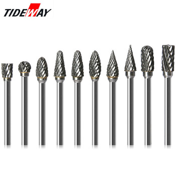 цена на 1/8 Tungsten Carbide 3x6mm Drill Bits Rotary Burrs Metal Diamond Grinding Woodworking Milling Cutters For Drill Bits