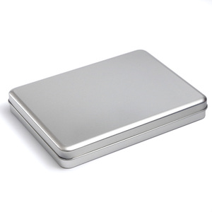 Металлическая прямоугольная коробка для хранения, 7 дюймов, 8 дюймов, для планшетов, сделай сам, пустой Органайзер из олова чехол, organizador caixa ...