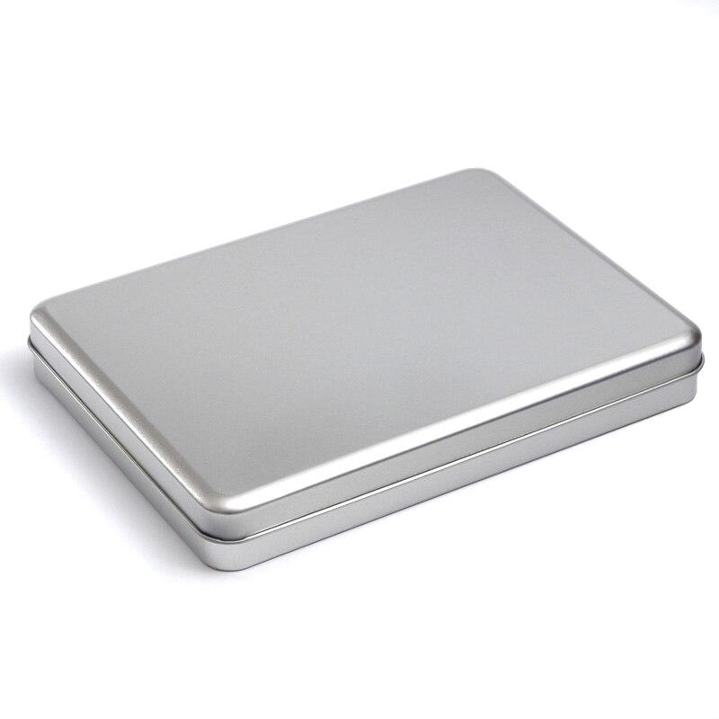 A5 Metal Rectangular storage box 7inch 8 inch Tablets DIY blank Tin organizer case organizador caixa organizadora Casket